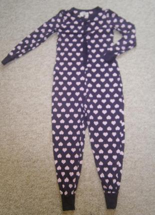 Тонкая пижама-кигуруми в сердечки