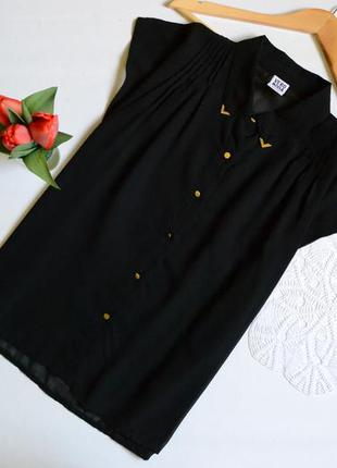 Блуза чорна класична vero moda