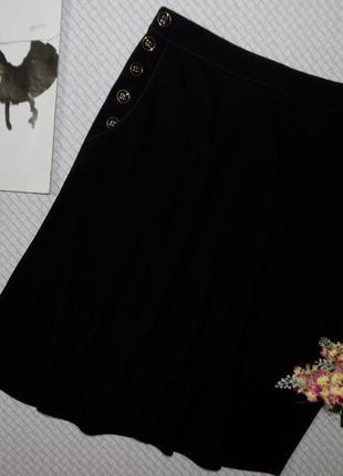 Юбка миди, очень стильная с карманами и красивыми пуговками2