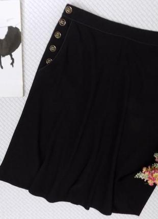 Юбка миди, очень стильная с карманами и красивыми пуговками3