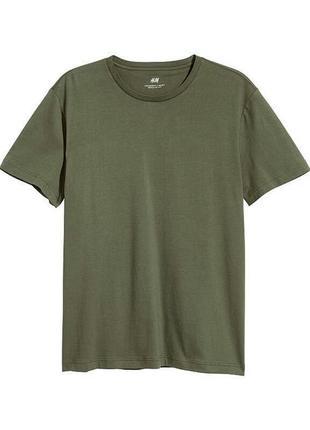 Базовая футболка h&m хаки