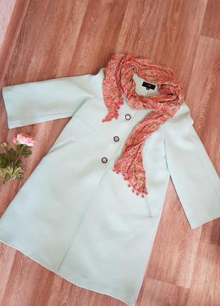 Супер пальто мятного цвета
