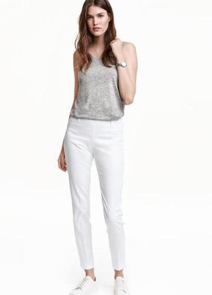 H&m белые брюки, s-m