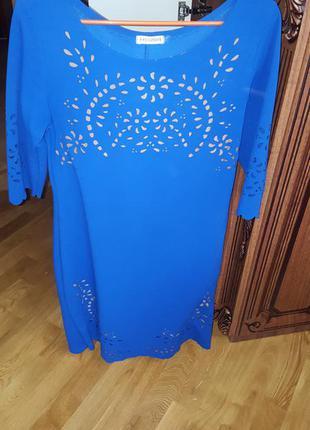 Плаття насиченого синього кольору від zara