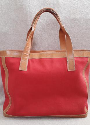 Большая сумка шоппер от gant. оригинал. кожа