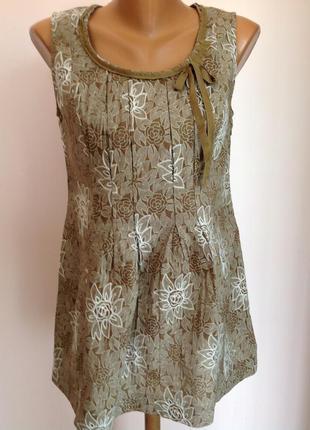 Фирменная туника , короткое платье с машинной вышивкой. /m/ brend betty barclau