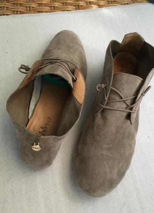 Летние туфли varese кожаные замшевые