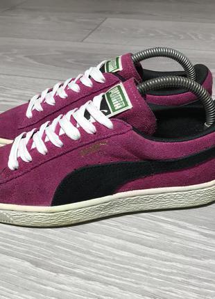 Кроссовки puma suede розовые оригинал замшевые размер 37 размер 38