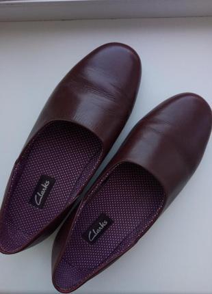 Туфли бордовые clarks  на широкую ножку