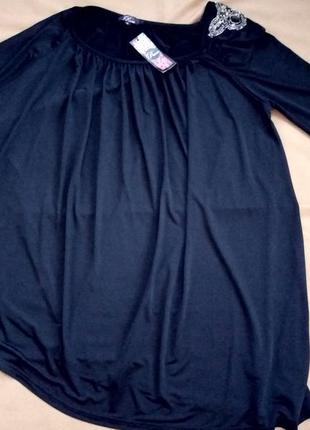 Эффектная блуза, туника с одним рукавом, rare   №1bp