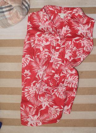 Красивая яркая блуза на лето с хлопка от monsoon большого размера