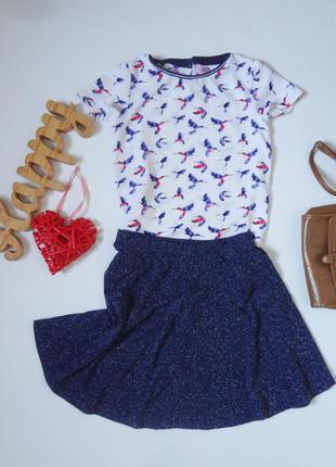 Блуза с птичками f&f