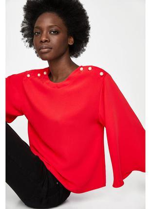 Стильная блуза zara (м)