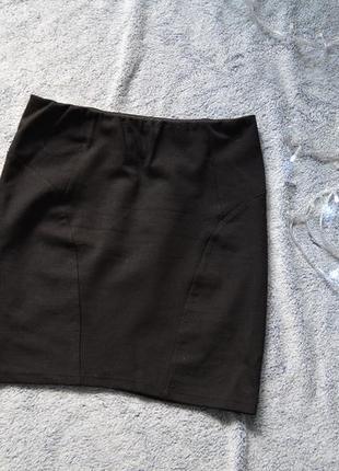 Мини-юбка на высокой талии bershka, классика
