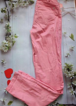 Джинсы розовые летние