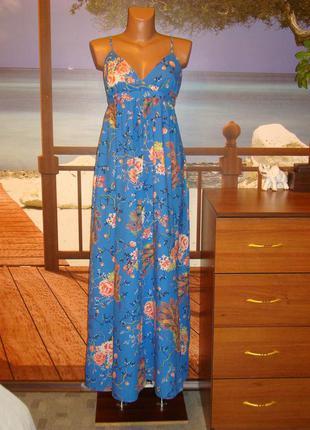 Сарафан в пол/макси сарафан/платье на бретельках