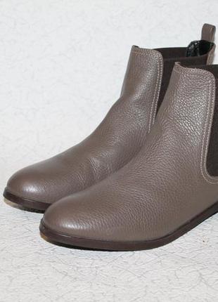 Кожаные ботинки челси цвета тауп 38 размер 25 см стелька