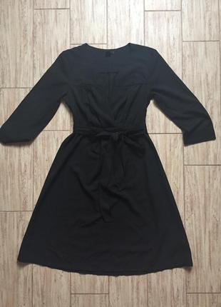 Черное платье. миди