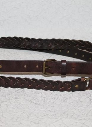 Оригинальный кожаный длинный  ремень max mara weekend