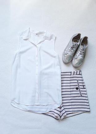 Базовая белая блузочка h&m