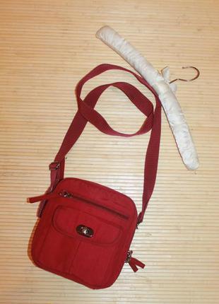 Брендовая сумка спорт через плечо кросс боди clarks