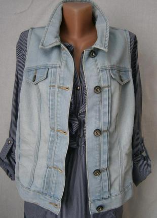 Стильная джинсовая жилетка разм.4хл-5хл
