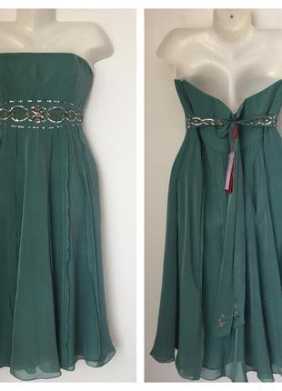 Шелковое платье цвета морской волны monsoon 14