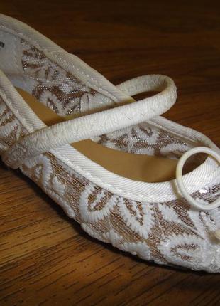 Шикарные нежные туфли босоножки балетки h&m на девочку р.23 (14,5 см)