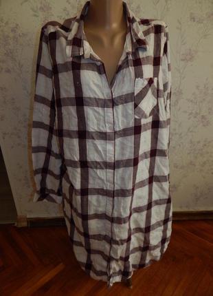 F&f халат-рубашка домашний р20-22 большой размер