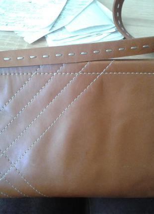 Кожаный клатч сумочка.натур кожа