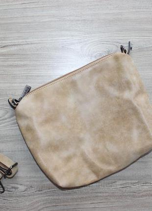 Стильная песочная сумка кросс-боди через плечо