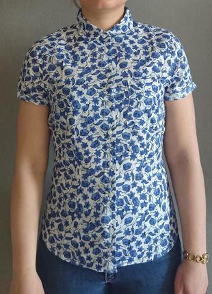 Хлопковая рубашка с коротким рукавом  от h&m