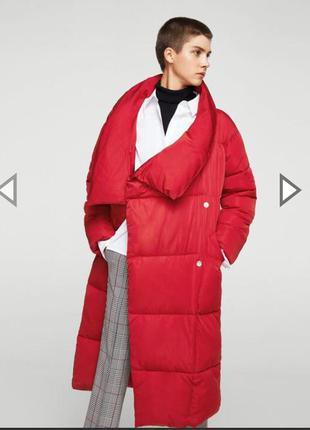 Пальто пуховик куртка mango