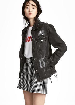 Джинсовая куртка, 34-й (xs) - 36-й (s), хлопок 100% - акция 🎉