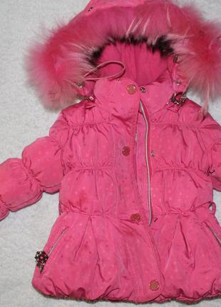 Зимний полукомбинезон и курточка для девочки