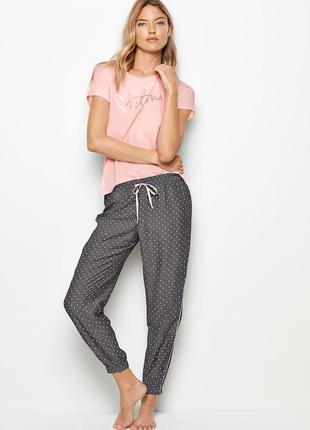 Джоггеры домашние брючки пижама штаны виктория сикрет victoria's secret jogger