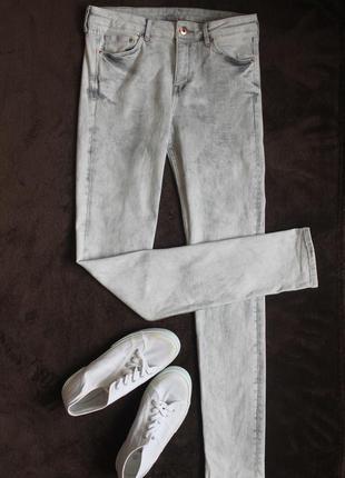Серые джинсы варенки от h&m, размер 28/32
