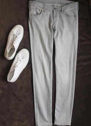 Серые джинсы скини от h&m