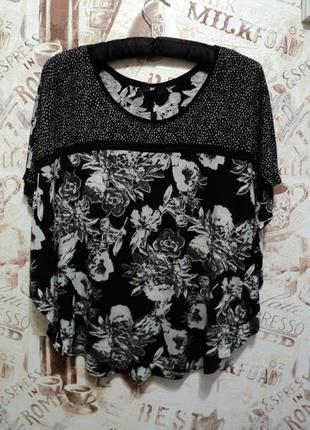 Блуза h&m с цветочным принтом