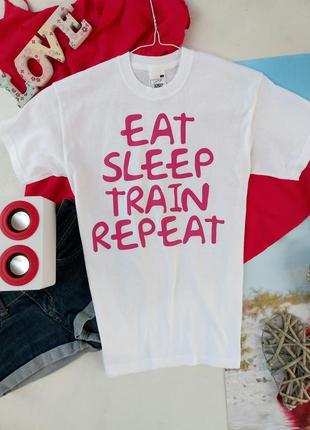 Котоновая футболка с прикольной надписью р s(36)8