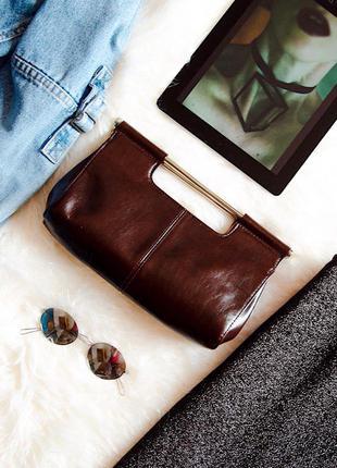 Клатч коричневый, сумка