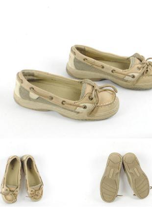 № 9/47  туфли для девочки  sperry натур кожа размер 32