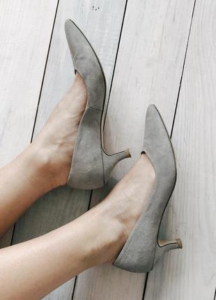 Замшевые туфли roberto santi