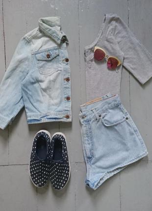 Укороченная джинсовая курточка #23 love label