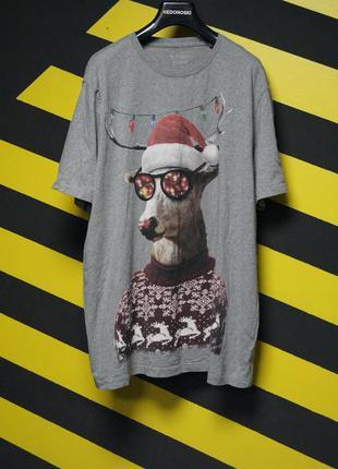 Рождественские футболки с принтом оленя