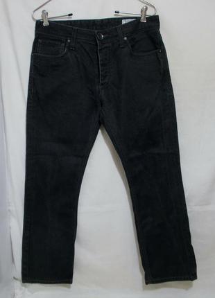 Новые джинсы черные прямые делаве w32-34 *jack & jones*