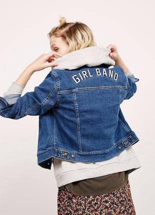 Трендовая джинсовая куртка bershka new coll