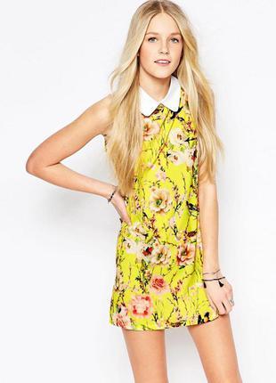 Прямое короткое платье с воротничком glamorous