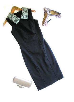 Плотное платье футляр с кружевным воротничком, вискоза, с биркой, доставка бесплатно.