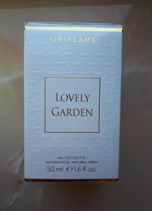 Туалетная вода lovely garden орифлейм